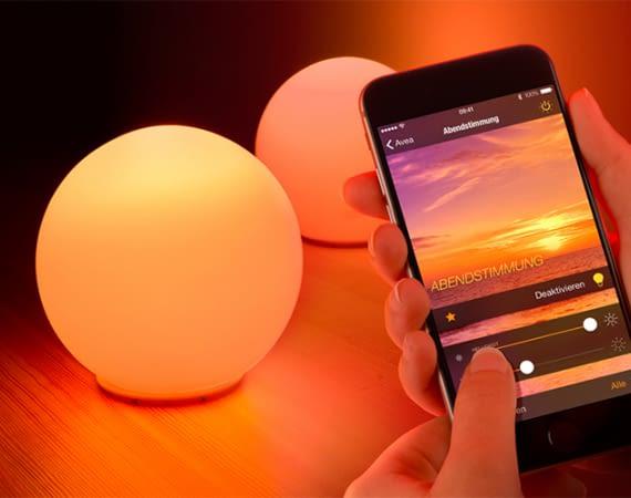 Mit Elgato Avea Sphere lassen sich tolle Lichtstimmungen zaubern