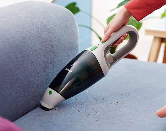 Philips ECO FC6148/01 reinigt per Zyklon-Luftwirbel und einem 2-Stufen-Filtersystem
