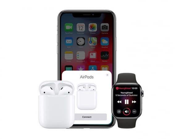 Apple Airpods verbinden sich kabellos via Bluetooth mit Apple-Geräten