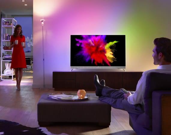 Smart TVs sorgen für Unterhaltung im Eigenheim - Modell: Philips 55POS901F