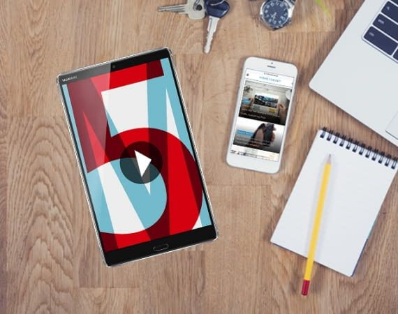 Das MediaPad M5 verfügt über ein 2K-Widescreen-Display