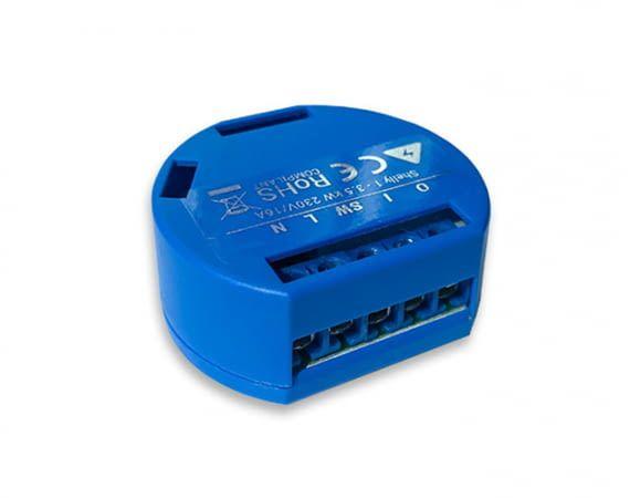Der Shelly 1 WLAN-Unterputzschalter ermöglicht einfach das nachträgliche Aufrüsten zu einem Smart Home