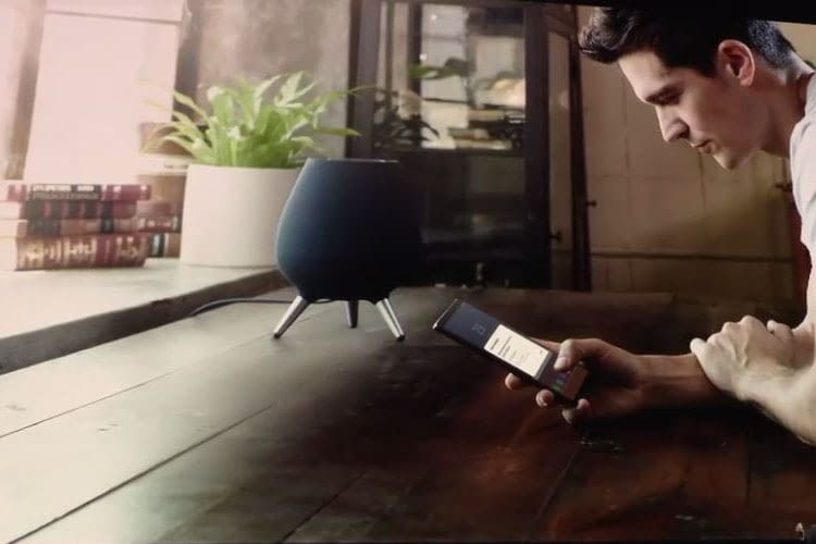 Samsungs intelligenter Lautsprecher Galaxy Home wurde auf der Samsung Galaxy Unpacked 2018 vorgestellt