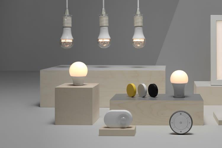 Die TRÅDFRI-Serie bietet nicht nur Lampen, sondern auch Dimmer und Lichtpaneele