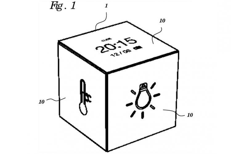 Google Patent einer würfelähnlichen Fernbedienung zur Steuerung des Smart Home