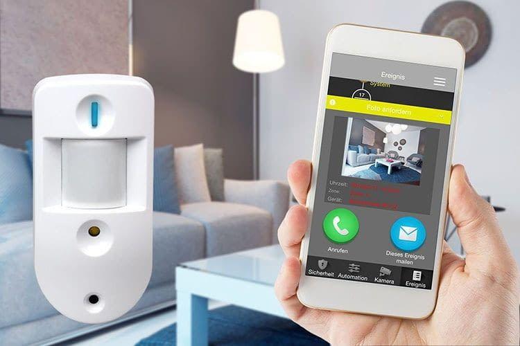 Die Blaupunkt Alarmanlage Q3200 sendet auch auf Anfarge Bilder aufs Smartphone