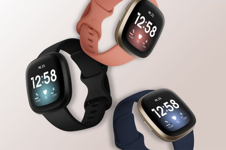 Fitbit Versa 3 ist in drei verschiedenen Farbvarianten erhältlich