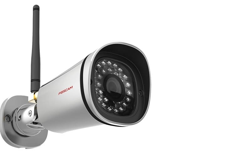 Die Foscam HD Wlan IP Kamera filmt in HD-Qualität