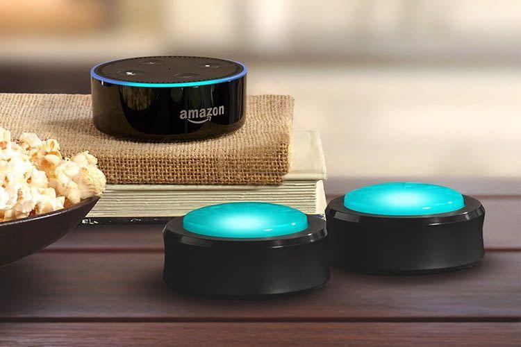 Die handlichen Buttons sind mit allen Amazon Echo-Lautsprechern kompatibel