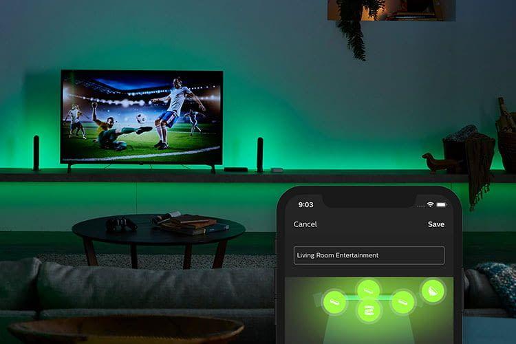 Mit der Philips Hue Sync Box erhalten Nutzer ein perfektes Zusammenspiel zwischen Leuchtelementen und dem TV-Bild