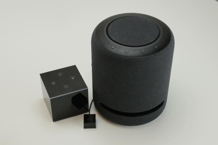Amazon Echo Studio und Fire TV Cube (2. Generation) lassen sich zu einem Heimkinosystem verbinden
