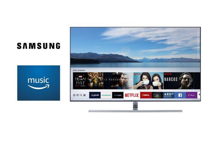 Besitzer eines Samsung Smart TV-Geräts können darüber jetzt direkt Amazon Music Playlists abspielen