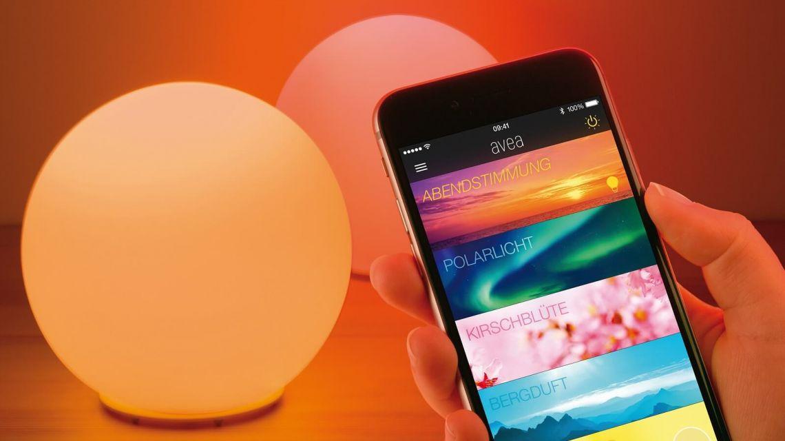 Lichtstimmung mit mehreren Elgato Avea Lampen