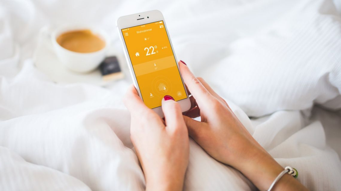 tado Radiator Thermostat mit App-Steuerung im Bett