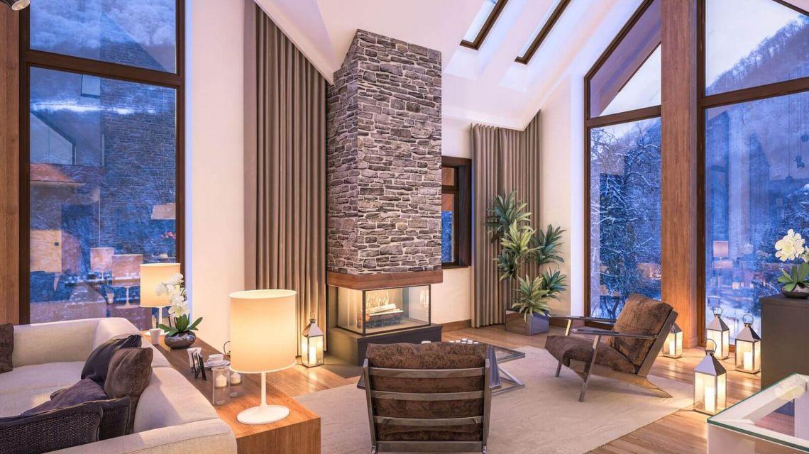 Räume Wohnzimmer Licht Abende