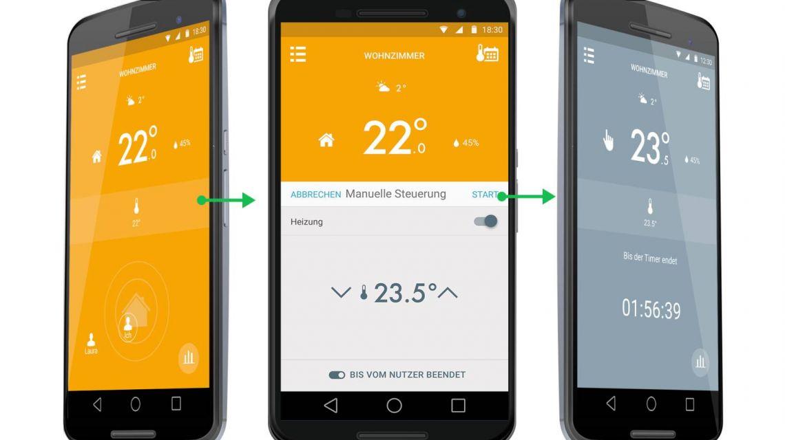 App-Steuerung für das tado Heizkörperthermostat
