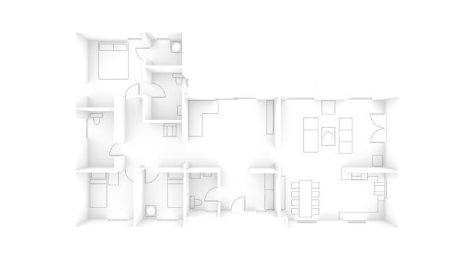 WLAN Signal im Grundriss des Smart Home