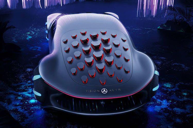 """Mercedes-Benz zeigt auf der CES 2020 ein Auto, das in Zusammenarbeit mit den Machern des Films """"Avatar"""" entstand"""