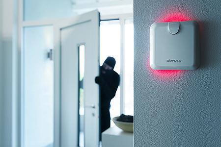 devolo Home Control Alarmsirene zum Schutz vor Einbrecher