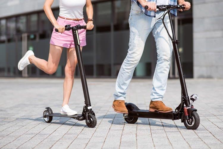 Fällt der Akku mal aus, können E-Scooter wie normale City Roller genutzt werden