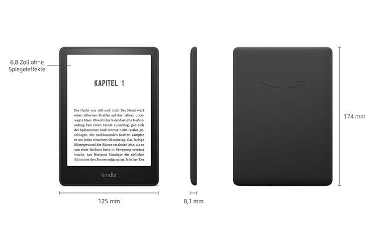 Kindle Paperwhite 2021 (Gen. 11) bietet ein 6,8 Zoll Display, einstellbare Farbtemperatur und eine USB-C Schnittstelle