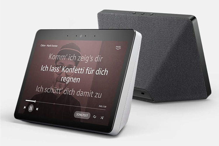 Amazon Echo Show 2. Generation blendet Songtexte ein, bei Nutzung von Amazon Music