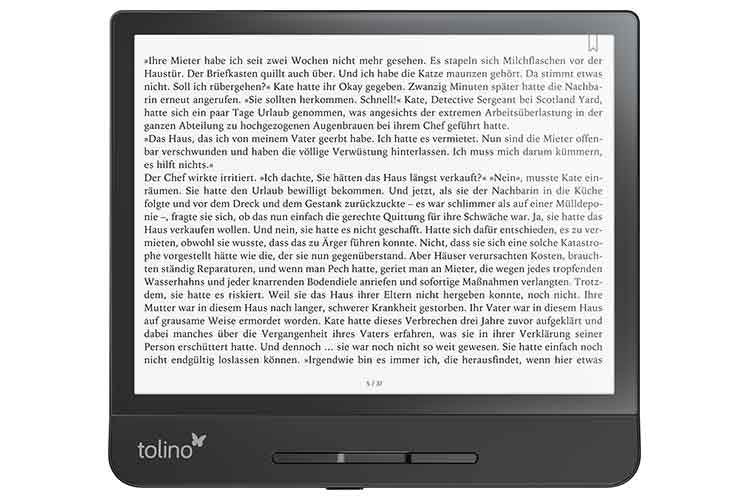Der Bildschirm lässt sich im tolino epos 2 waagrecht und senkrecht zum Lesen nutzen