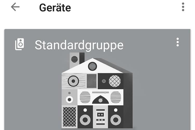 In der Google Home App werden Multroom-Gruppen in der Geräteliste aufgeführt