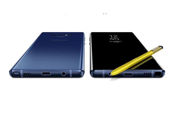 Das Samsung Galaxy Note9 Smartphones ist wasserfest nach Schutzklasse IP68