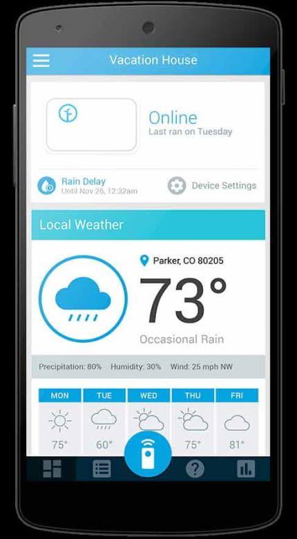 Rachio Smart WiFi Sprinkler App
