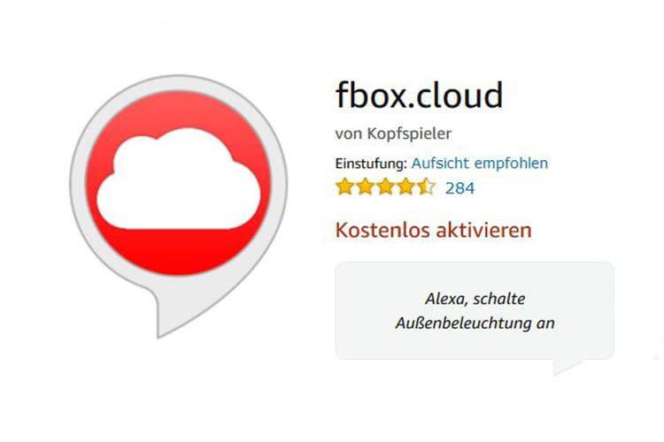 Der Skill fbox.cloud stellt die Verbindung zwischen FRITZ!Box und Alexa her