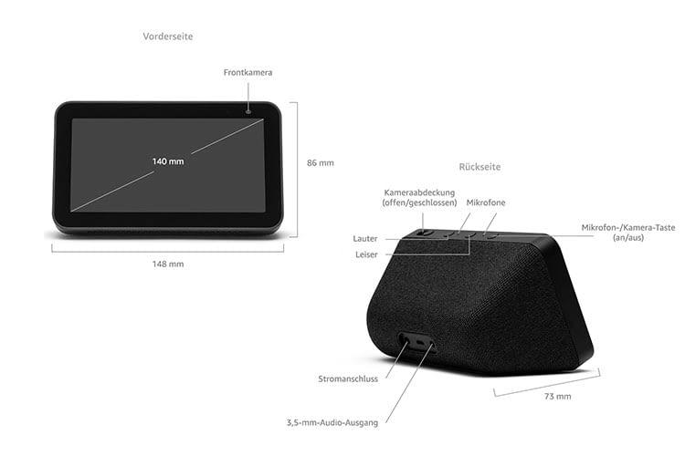 Amazon Echo Show 5 ähnelt technisch Echo Spot, bietet aber ene höhere Display-Auflösung