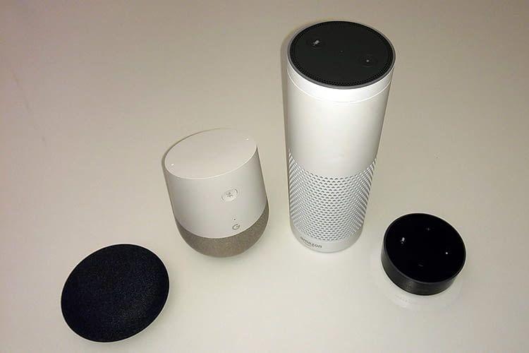 Überzeugen mit sinnvollen Funktionen: Google Home und Amazon Echo sowie Mini und Dot