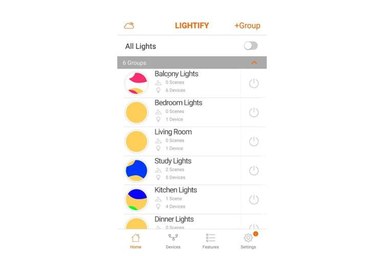 Per App lassen sich Änderungen an Farbtemperatur und Helligkeit vornehmen