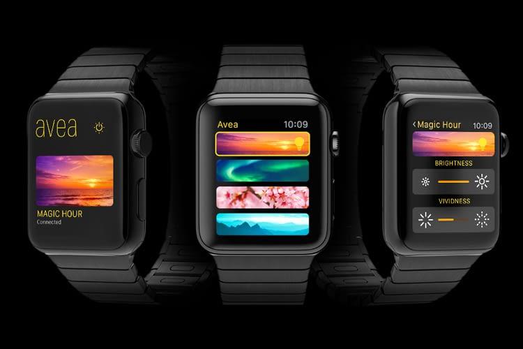 Elgato Avea liefert auch die passende App für die Apple Watch