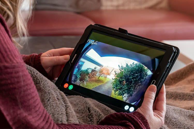 Die Bilder mancher Videosprechanlagen sind auf Wunsch auch per Tablet abrufbar