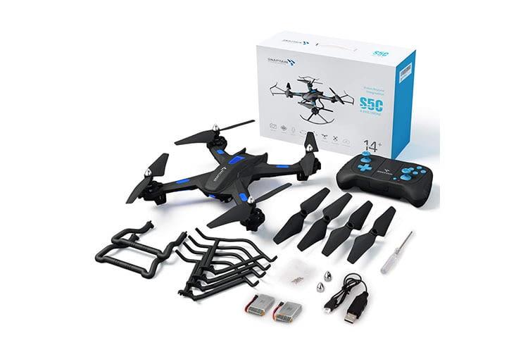 Die Kamera der Spielzeug-Drohne SNAPTAIN S5C bietet HD-Auflösung (720p)
