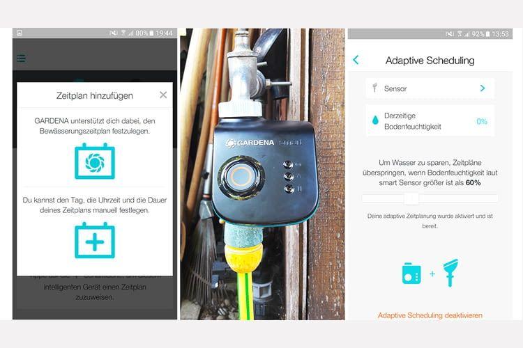 Der GARDENA smart Water Control Sensor sorgt für optimale Bewässerung