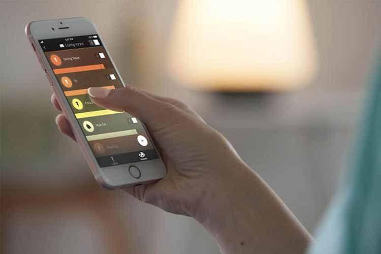 Philips HueLabs ist auch über die Hue-App für iOS zugänglich