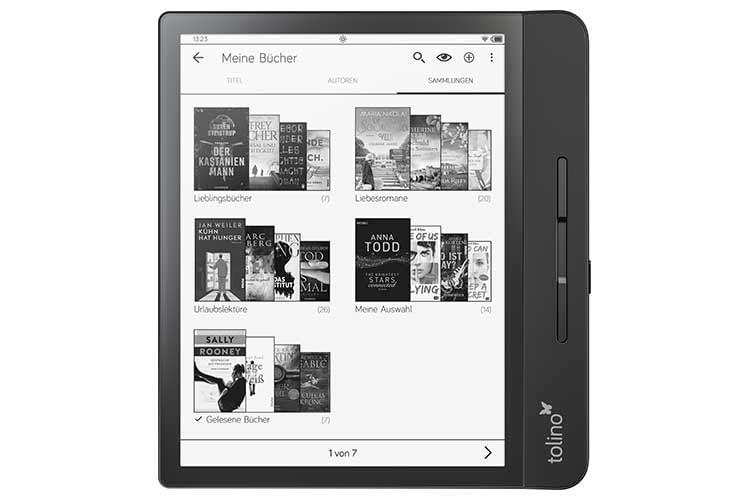 Nutzer können im tolino epos 2 eReader Büchersammlungen anlegen