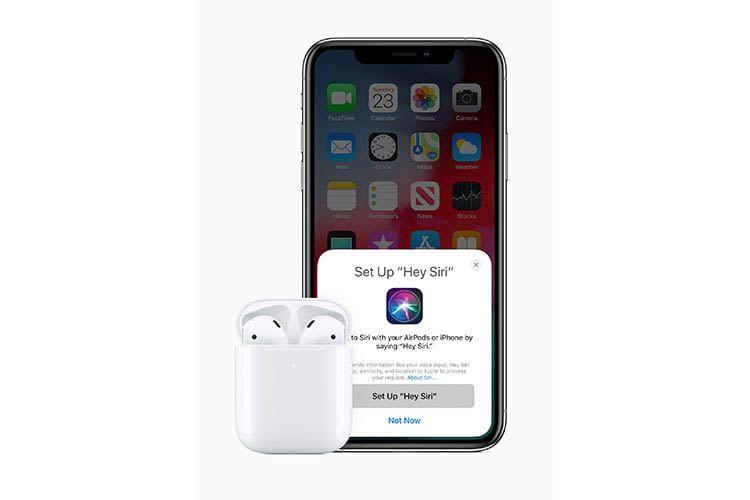 Apples Sprachassistentin Siri ist mit den Apple AirPods 2 einfacher aufrufbar