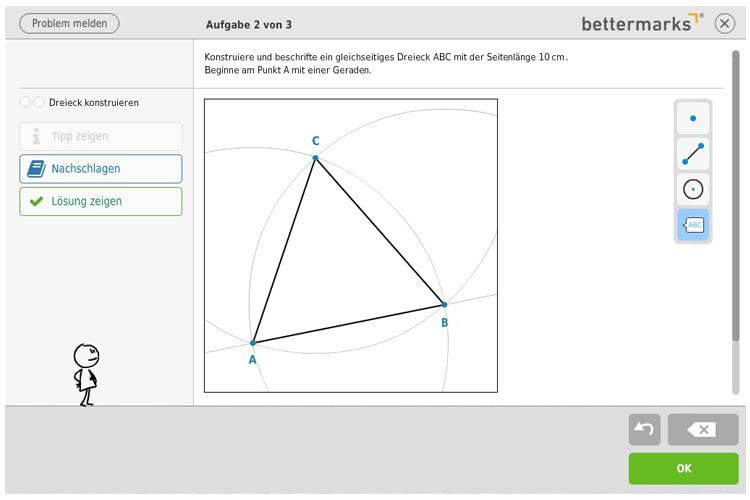 Mit anschaulichen Beispielen bringt bettermarks Schülern mathematische Grundsätze näher