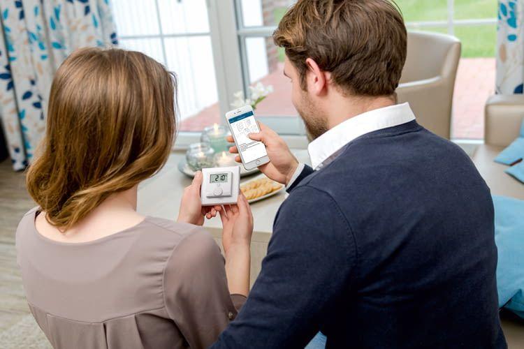 Die Einrichtung der Homematic IP Komponenten erfolgt über die Homematic IP App per QR-Code