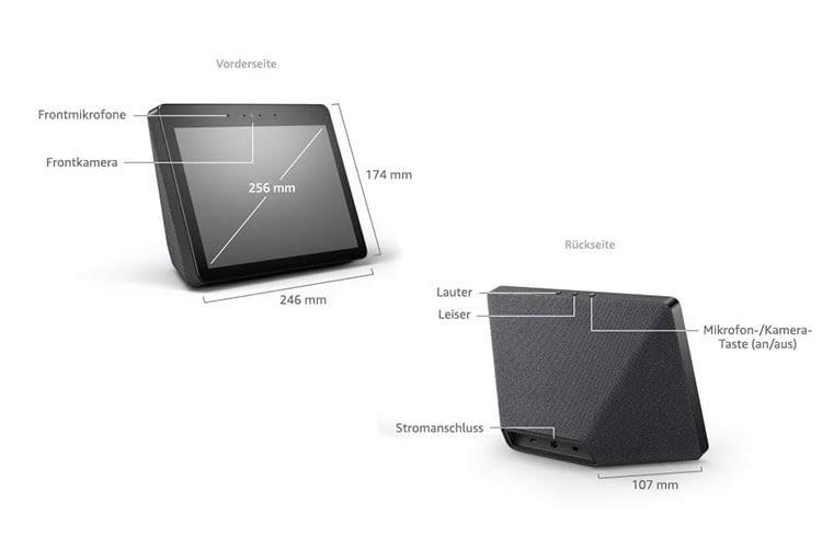 Amazon Echo Show (2. Generation) verfügt wie Echo Plus über einen integrierten ZigBee Smart Home Hub