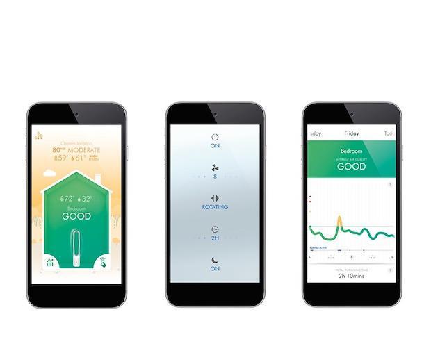 Die Dyson Link-App liefert Auswertung, Zeitpläne und Betriebsmodi für Pure Cool Link