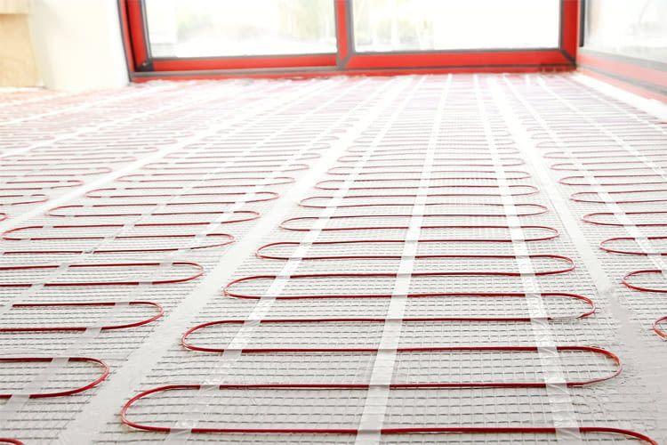 Bei elektronischen Fußbodenheizungen muss kein Rohrabstand beachtet werden