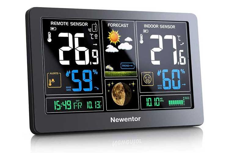 Die Newentor Wetterstation ist eine günstige Wetterstation, die Temperatur, Luftfeuchtigkeit und Luftdruck misst