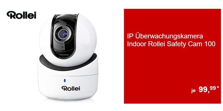 Die IP Überwachungskamera Rollei Safety Cam 100 filmt in Full-HD