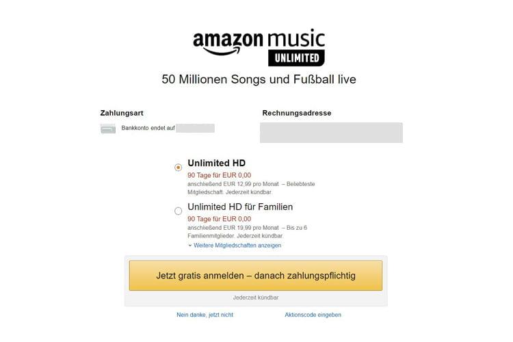 Das Abschließen eines Probeabos ist bei Amazon sehr schnell und einfach möglich