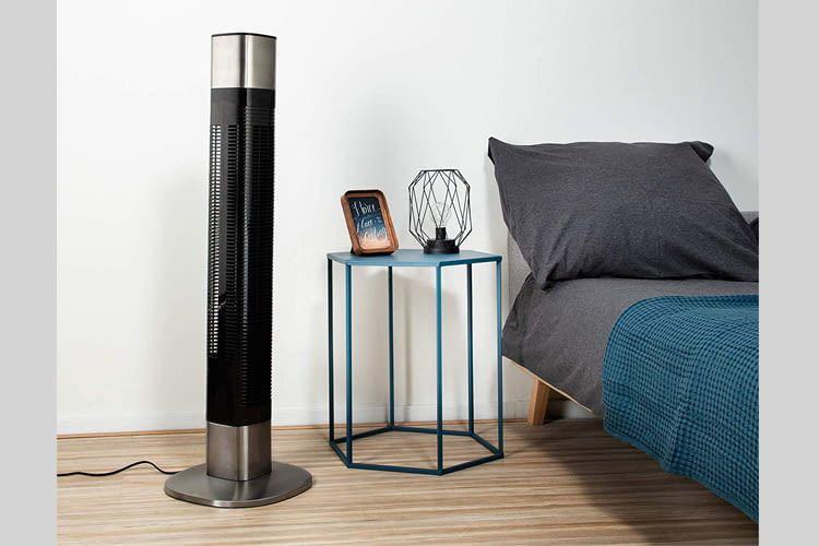 Dieser Ventilator ist über die HomeWizard Climate-App, Google Assistant oder Alexa steuerbar